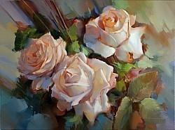 Розы Крем де ля крем
