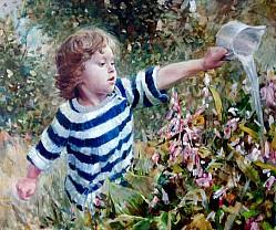 Алексей Точин - Портрет девочки в саду