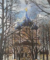 Суздаль.  Вид на купола Собора Рождества Богородицы.